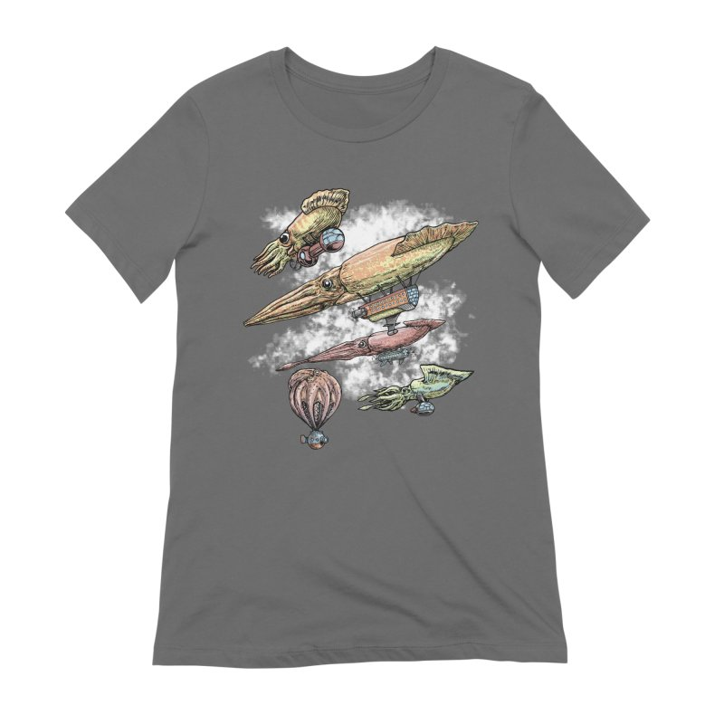 Squidirigibles Women's Extra Soft T-Shirt by Octophant's Artist Shop