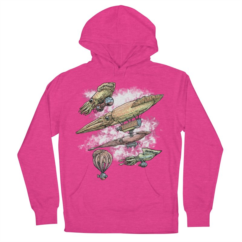 Squidirigibles Women's French Terry Pullover Hoody by Octophant's Artist Shop