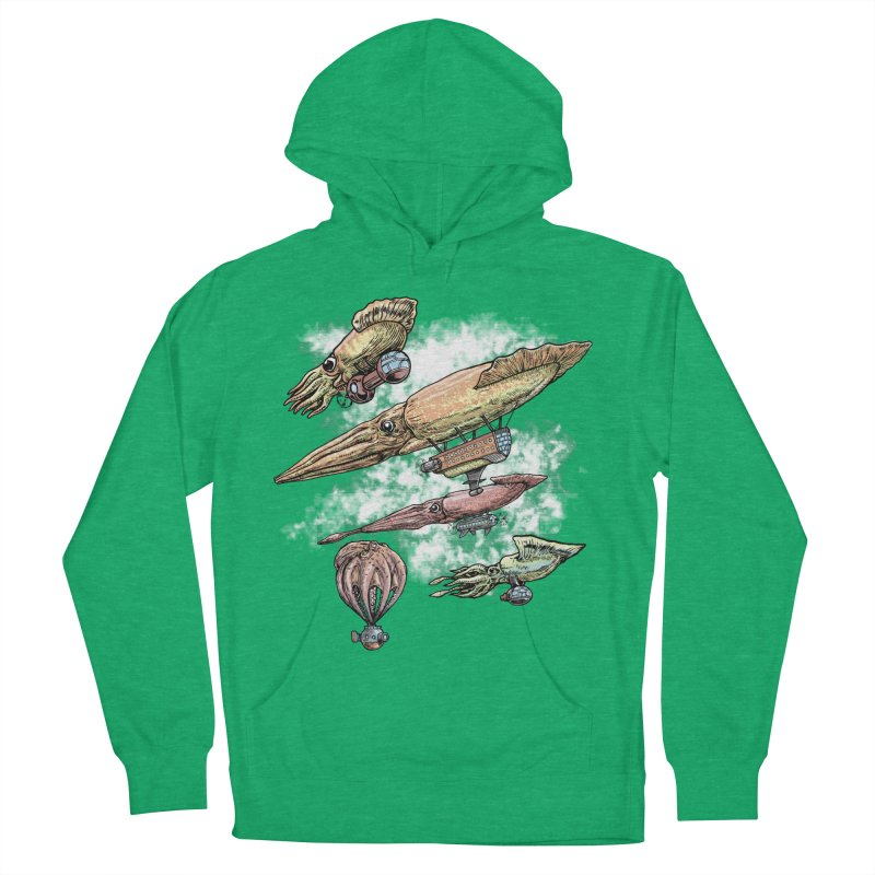 Squidirigibles Men's French Terry Pullover Hoody by Octophant's Artist Shop