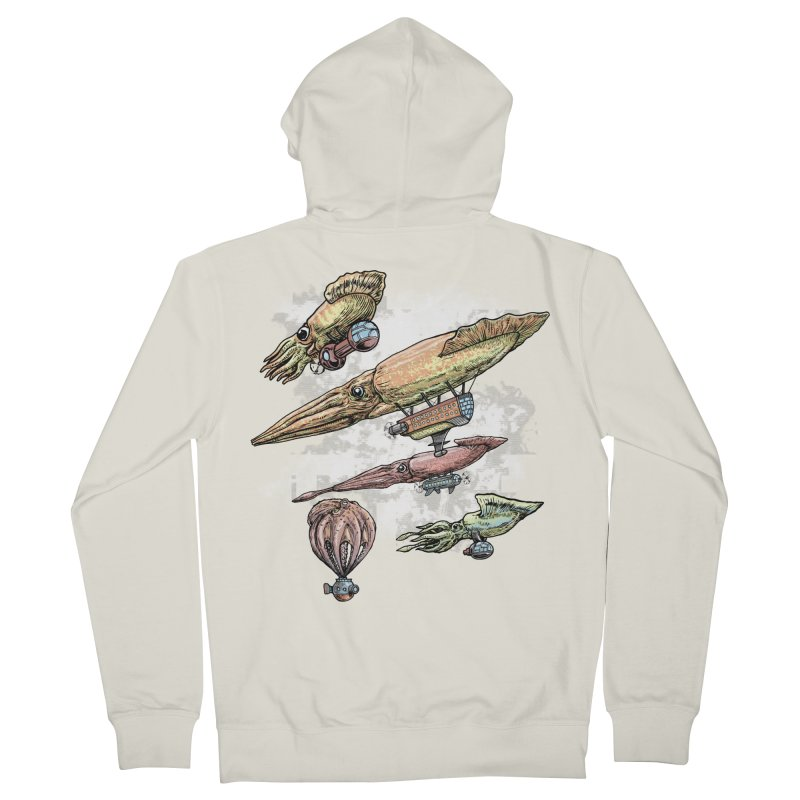 Squidirigibles Men's Zip-Up Hoody by Octophant's Artist Shop