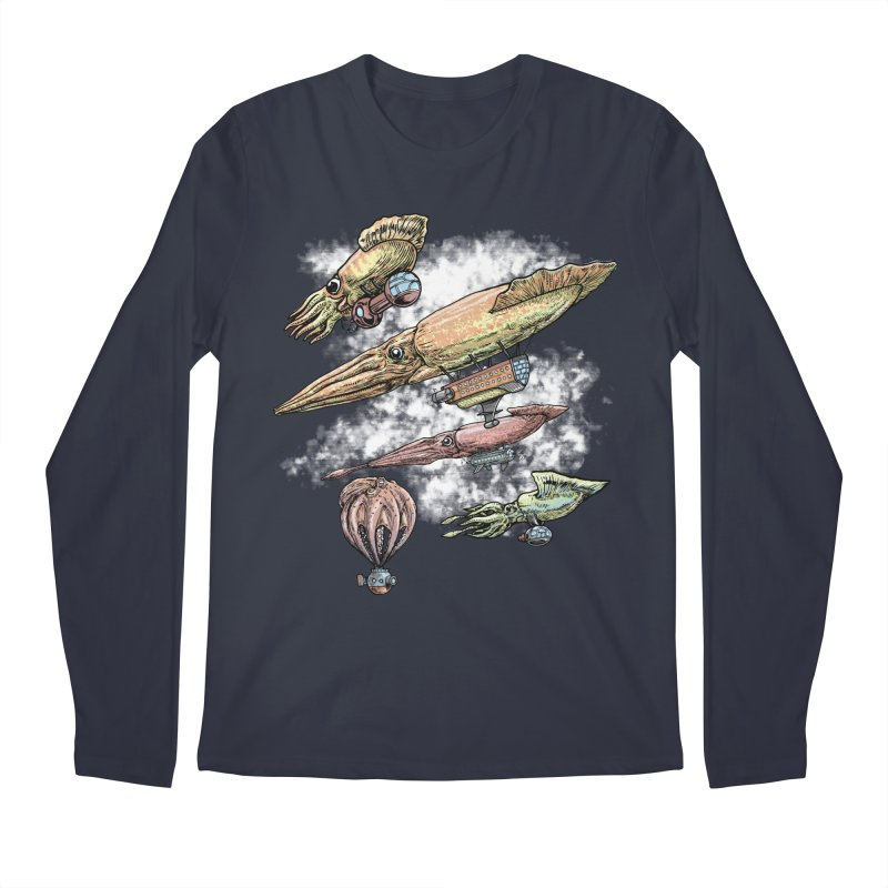Squidirigibles Men's Regular Longsleeve T-Shirt by Octophant's Artist Shop