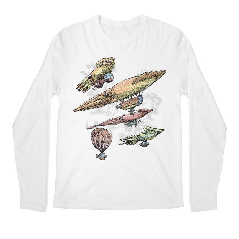 Squidirigibles Men's Longsleeve T-Shirt by Octophant's Artist Shop