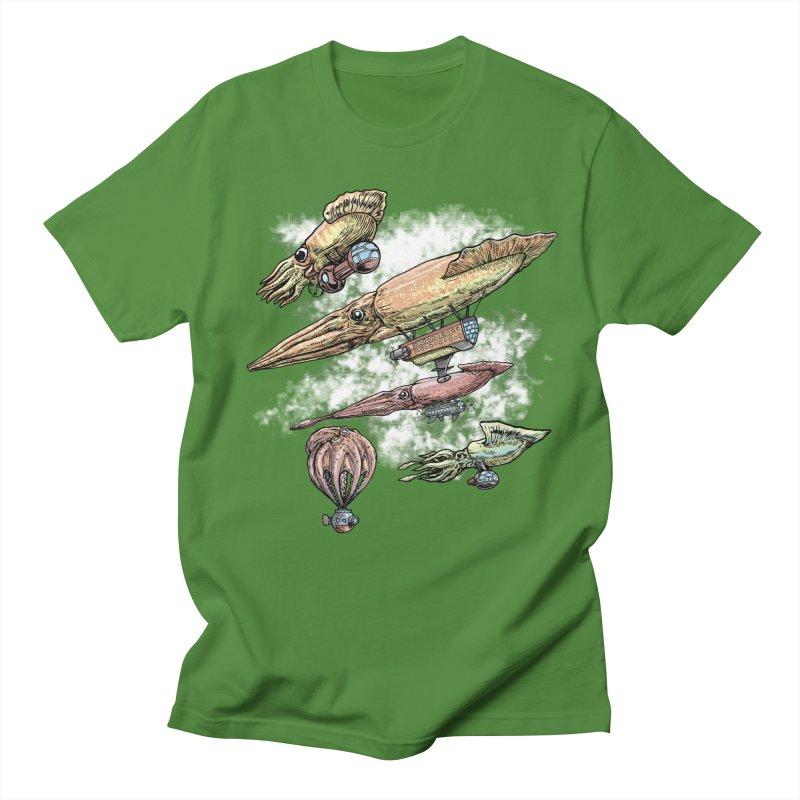Squidirigibles Women's Regular Unisex T-Shirt by Octophant's Artist Shop