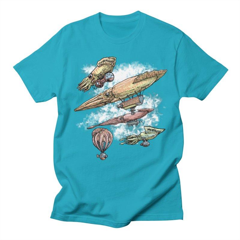 Squidirigibles Men's T-shirt by Octophant's Artist Shop