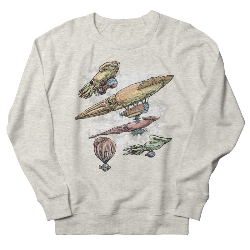 Squidirigibles Women's French Terry Sweatshirt by Octophant's Artist Shop