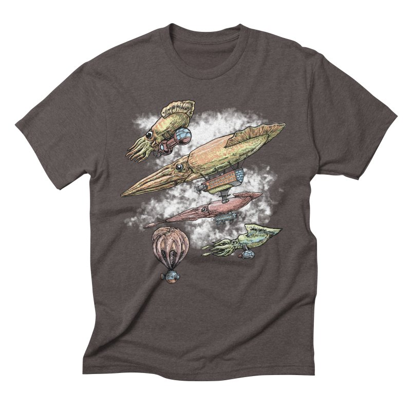 Squidirigibles Men's Triblend T-Shirt by Octophant's Artist Shop