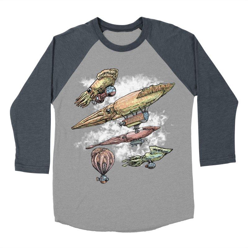 Squidirigibles Women's Baseball Triblend T-Shirt by Octophant's Artist Shop