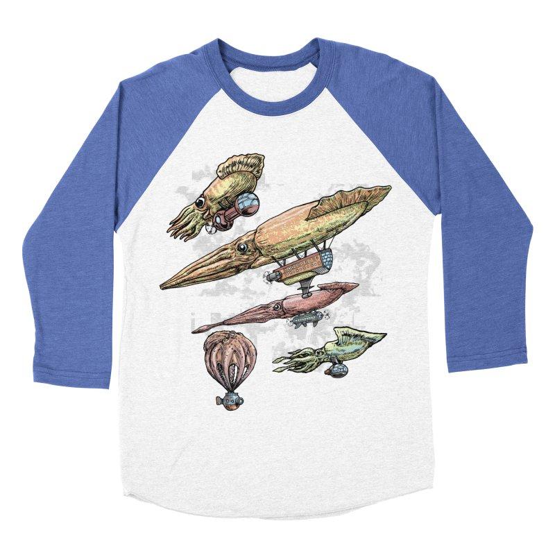 Squidirigibles Men's Baseball Triblend Longsleeve T-Shirt by Octophant's Artist Shop