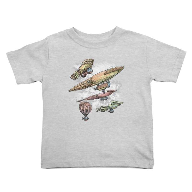 Squidirigibles Kids Toddler T-Shirt by Octophant's Artist Shop