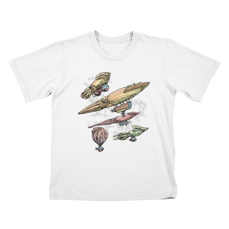 Squidirigibles Kids T-shirt by Octophant's Artist Shop