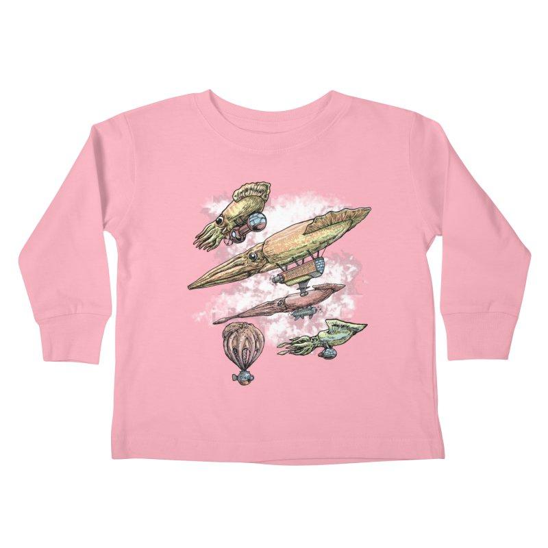 Squidirigibles Kids Toddler Longsleeve T-Shirt by Octophant's Artist Shop