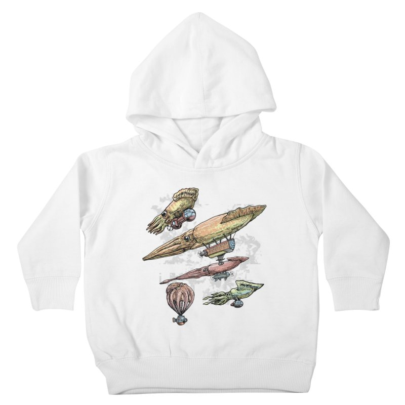 Squidirigibles Kids Toddler Pullover Hoody by Octophant's Artist Shop