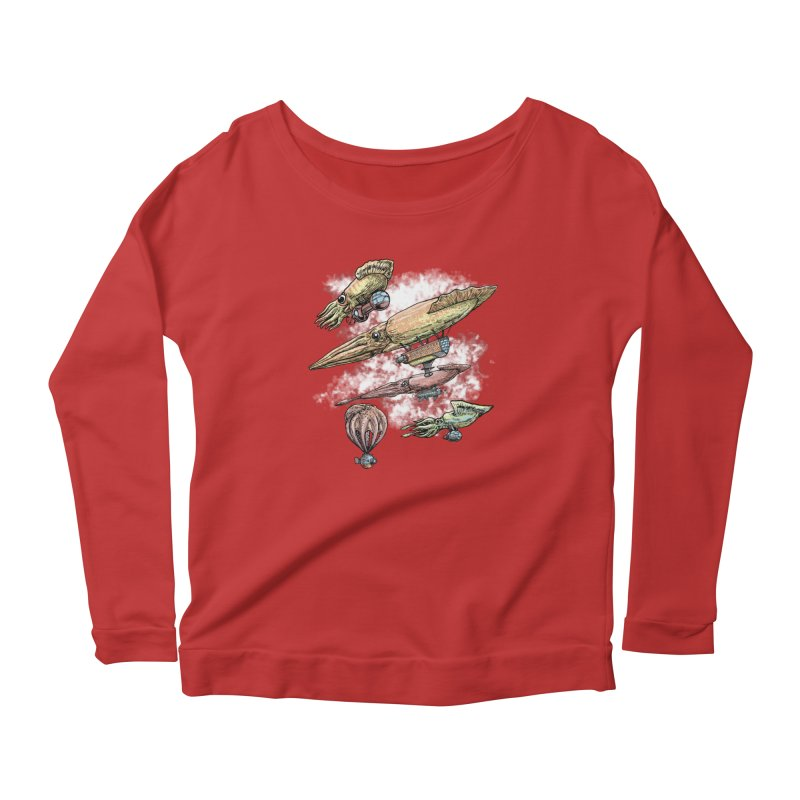 Squidirigibles Women's Longsleeve T-Shirt by Octophant's Artist Shop