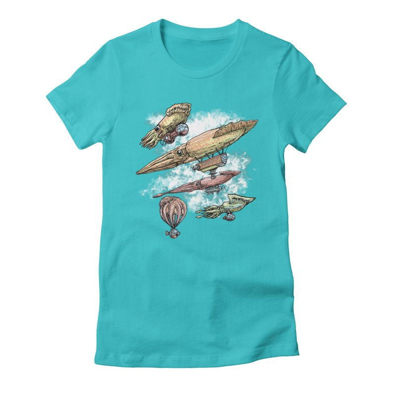 Squidirigibles Women's Fitted T-Shirt by Octophant's Artist Shop