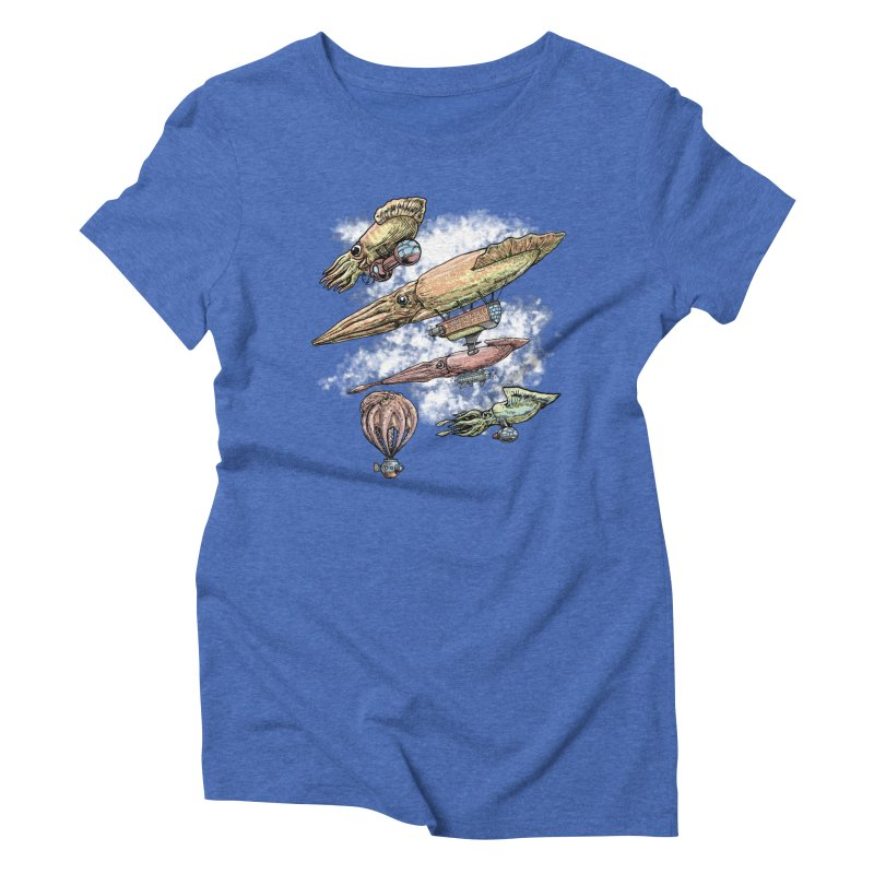 Squidirigibles Women's Triblend T-Shirt by Octophant's Artist Shop