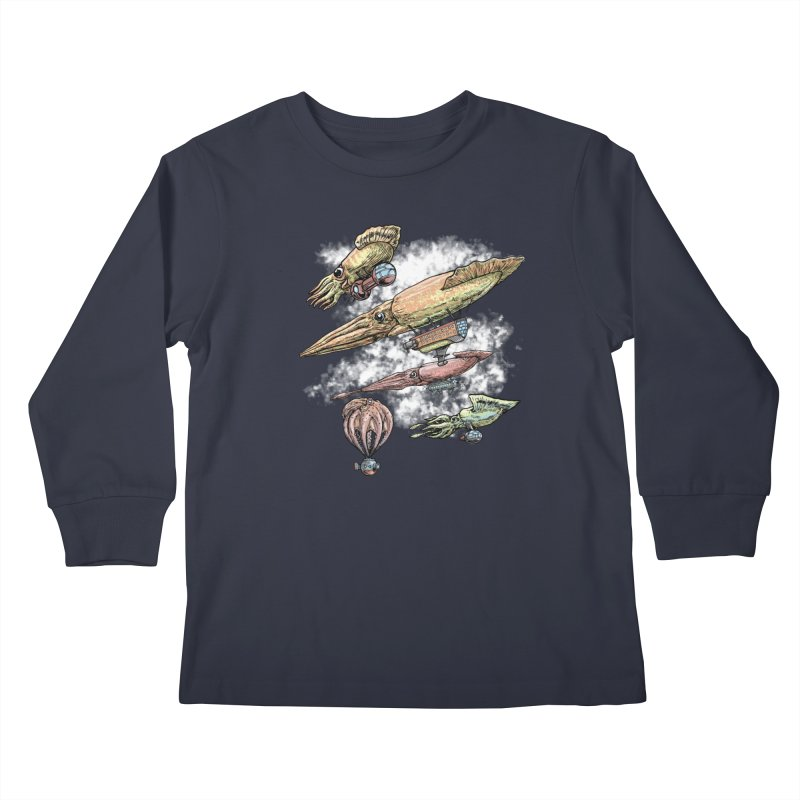 Squidirigibles Kids Longsleeve T-Shirt by Octophant's Artist Shop