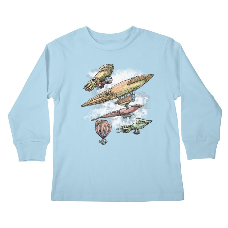 Squidirigibles Kids Longsleeve T-Shirt by Octophant's Artist Shop