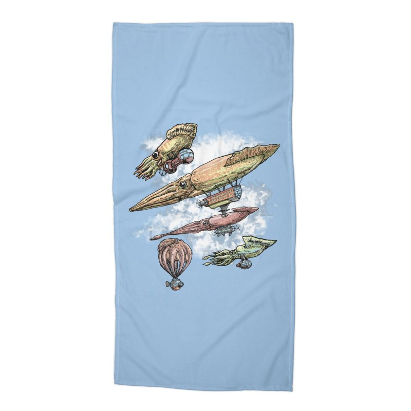 Squidirigibles Accessories Beach Towel by Octophant's Artist Shop