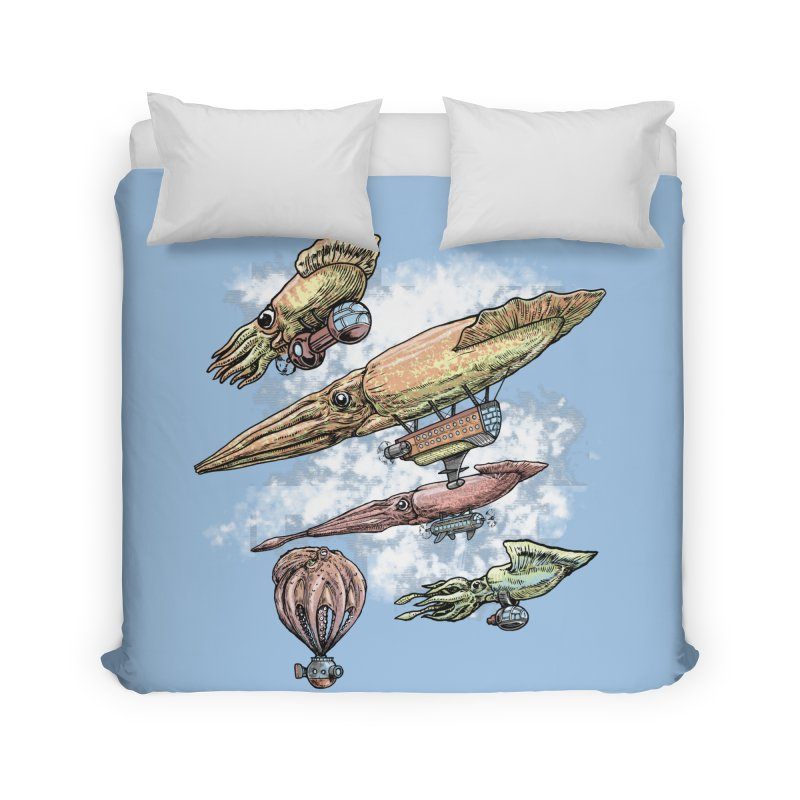 Squidirigibles Home Duvet by Octophant's Artist Shop