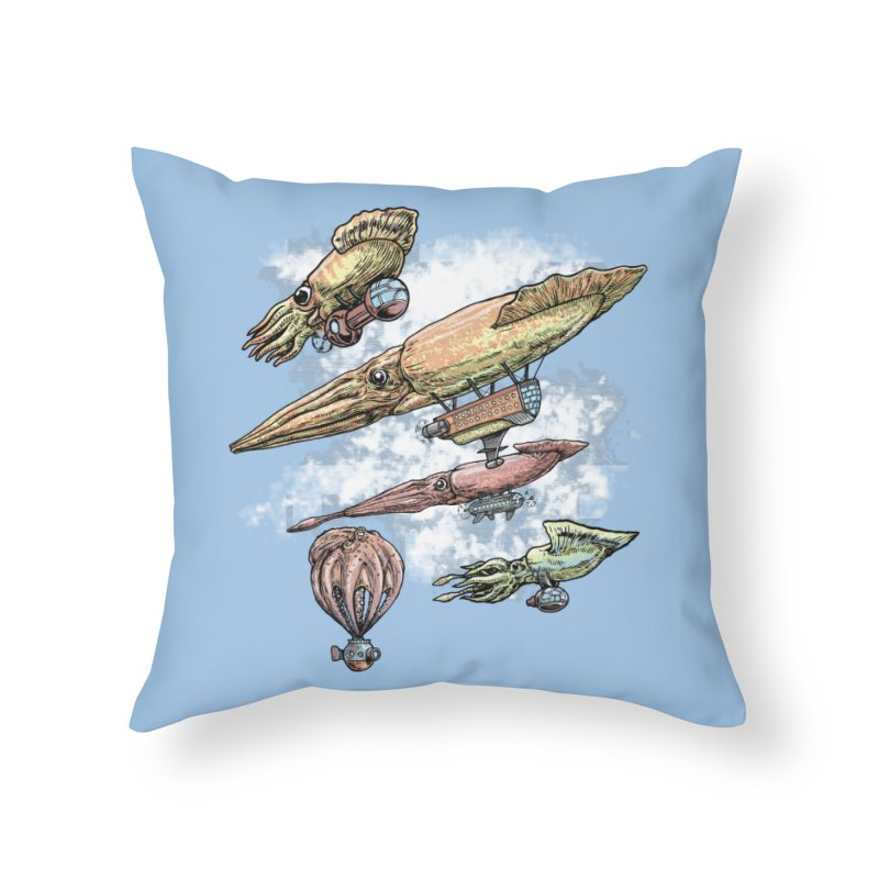 Squidirigibles Home Throw Pillow by Octophant's Artist Shop