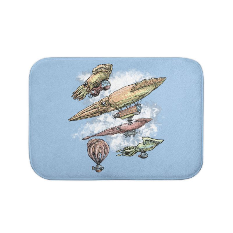 Squidirigibles Home Bath Mat by Octophant's Artist Shop