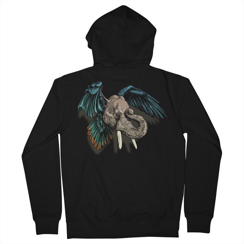 Rooktophant Men's French Terry Zip-Up Hoody by Octophant's Artist Shop