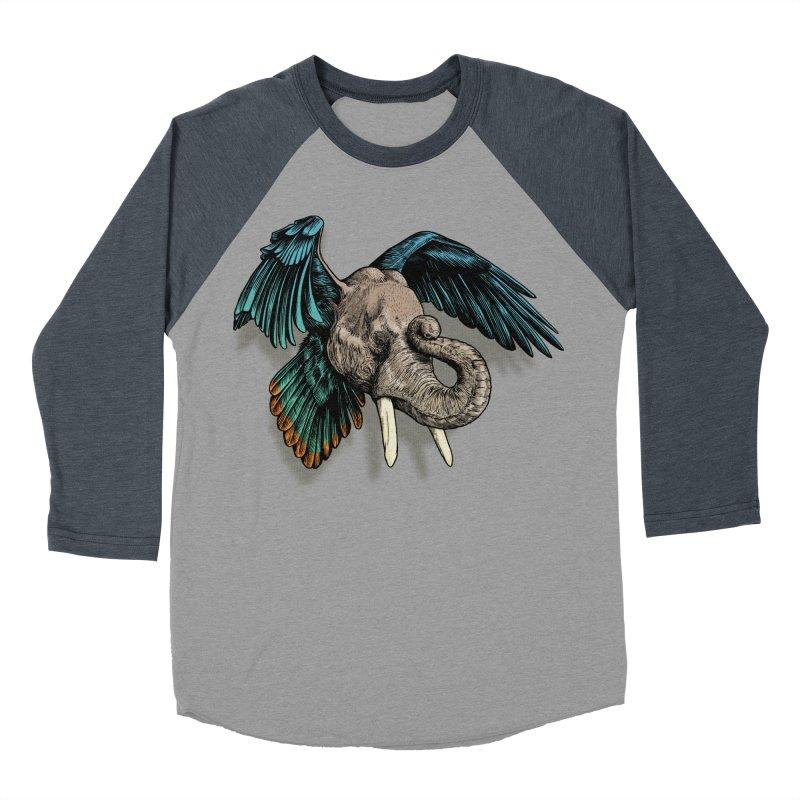 Rooktophant Women's Baseball Triblend T-Shirt by Octophant's Artist Shop