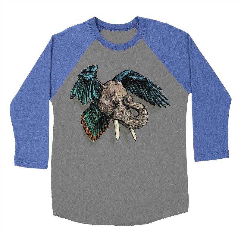 Rooktophant Men's Baseball Triblend T-Shirt by Octophant's Artist Shop