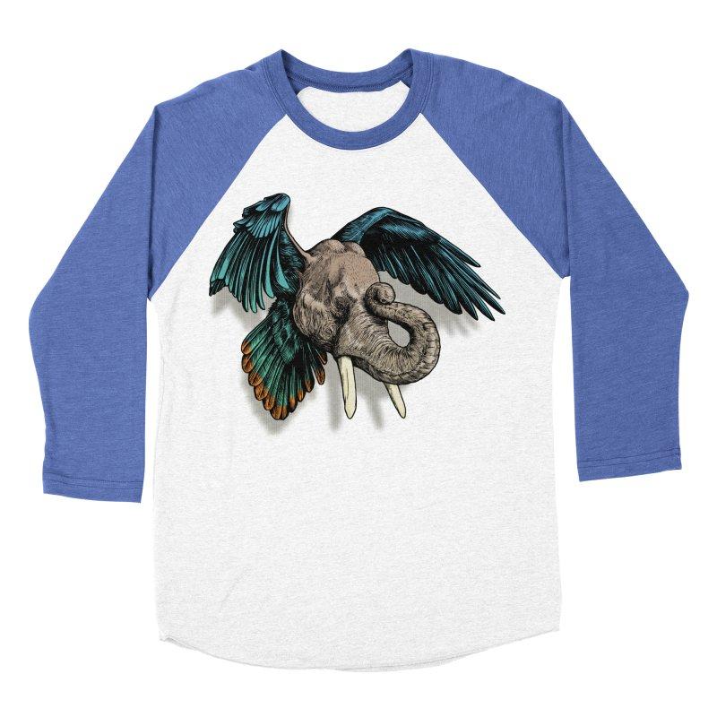 Rooktophant Men's Baseball Triblend Longsleeve T-Shirt by Octophant's Artist Shop