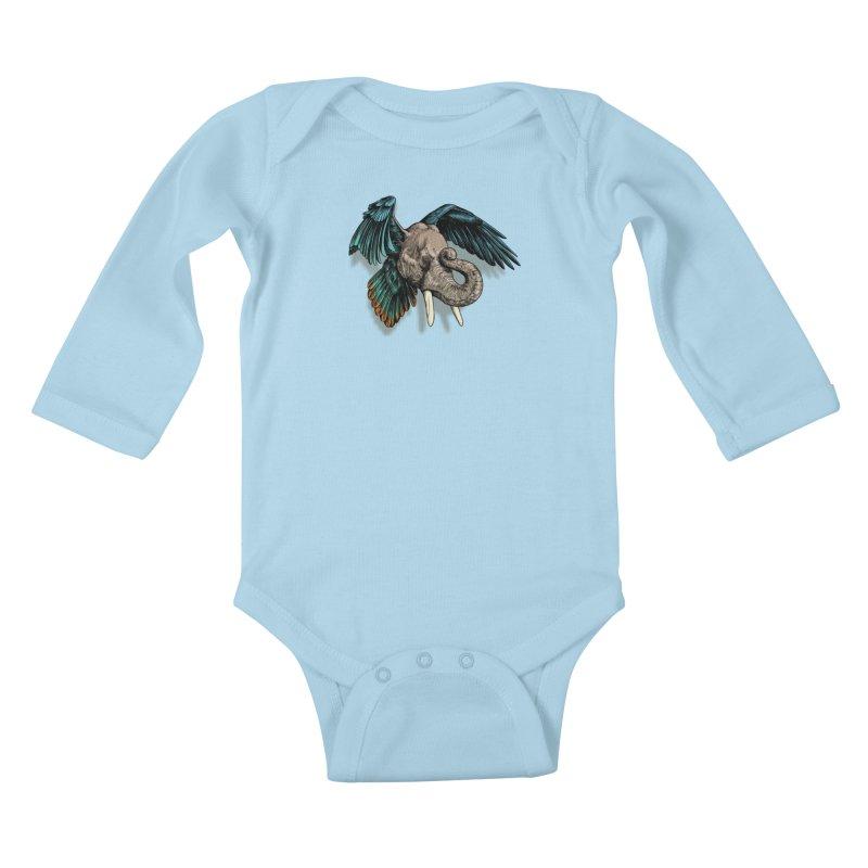 Rooktophant Kids Baby Longsleeve Bodysuit by Octophant's Artist Shop