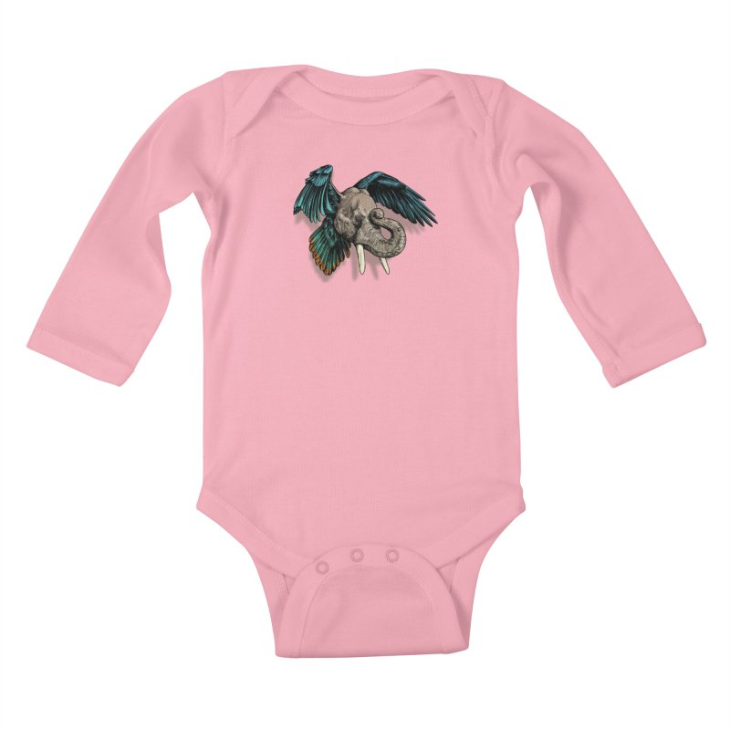 Rooktophant Kids Baby Longsleeve Bodysuit by Octophant's Artist Shop
