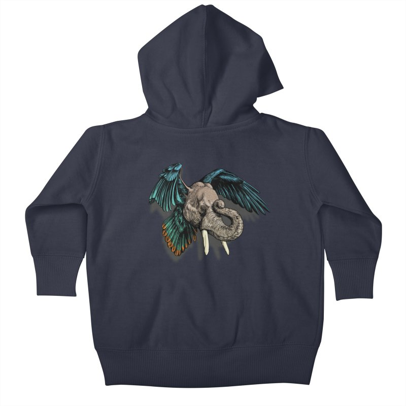 Rooktophant Kids Baby Zip-Up Hoody by Octophant's Artist Shop