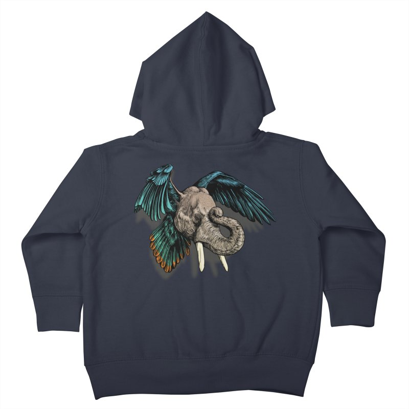 Rooktophant Kids Toddler Zip-Up Hoody by Octophant's Artist Shop