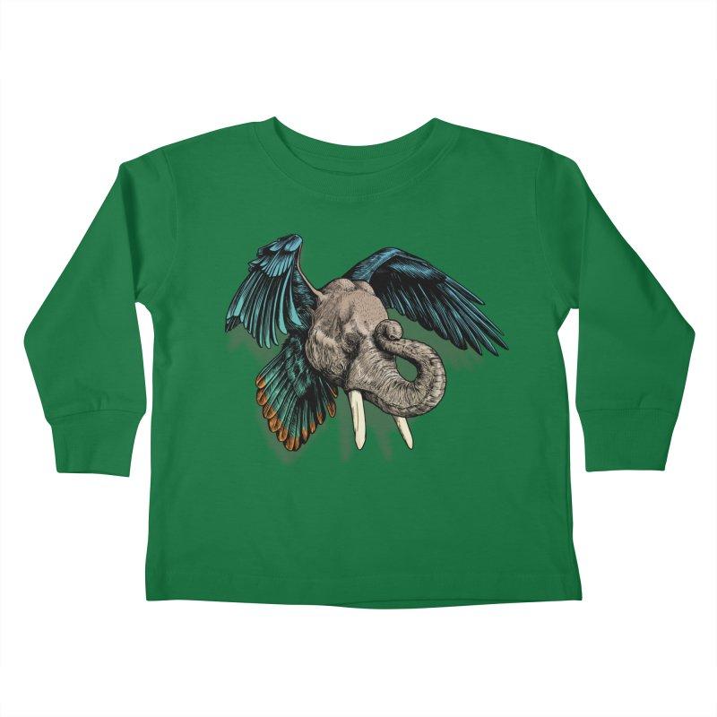 Rooktophant Kids Toddler Longsleeve T-Shirt by Octophant's Artist Shop