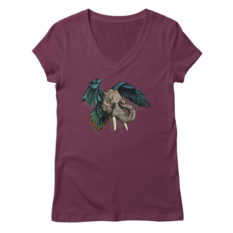 Rooktophant Women's V-Neck by Octophant's Artist Shop