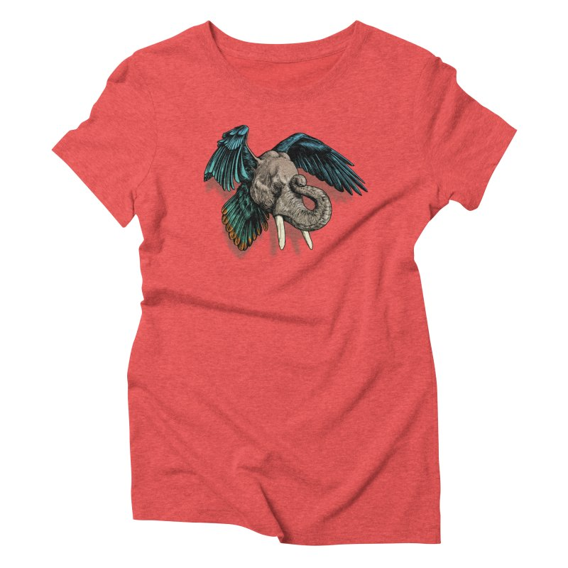 Rooktophant Women's Triblend T-Shirt by Octophant's Artist Shop