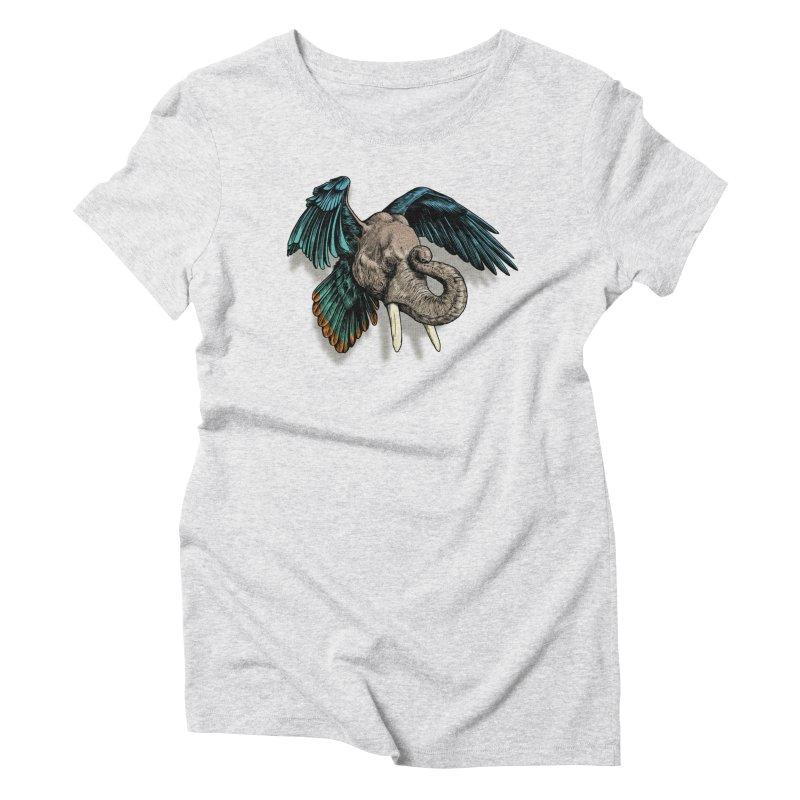 Rooktophant Women's Triblend T-shirt by Octophant's Artist Shop