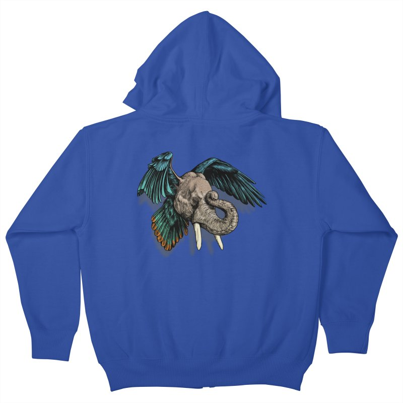 Rooktophant Kids Zip-Up Hoody by Octophant's Artist Shop