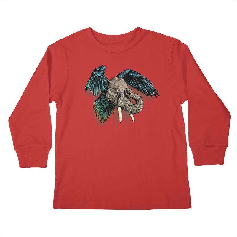 Rooktophant Kids Longsleeve T-Shirt by Octophant's Artist Shop