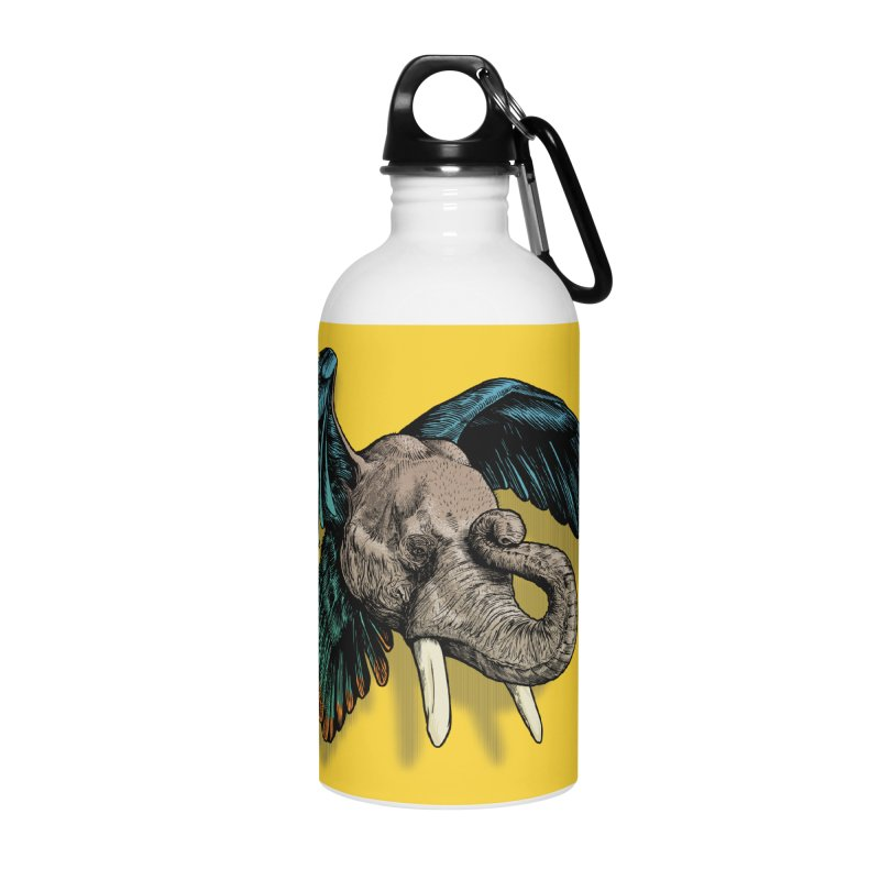 Rooktophant Accessories Water Bottle by Octophant's Artist Shop