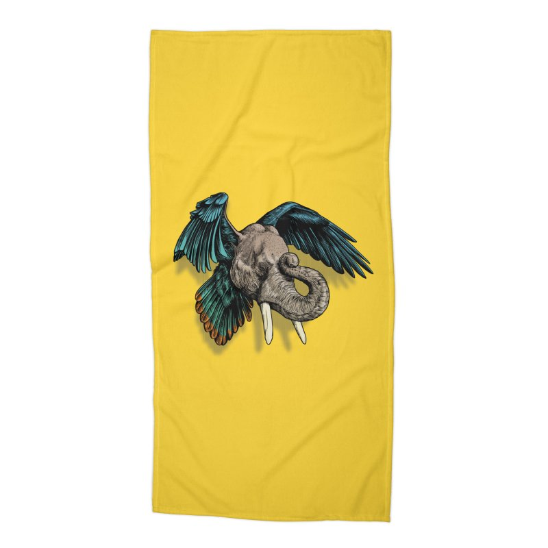Rooktophant Accessories Beach Towel by Octophant's Artist Shop