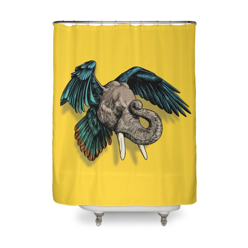 Rooktophant Home Shower Curtain by Octophant's Artist Shop