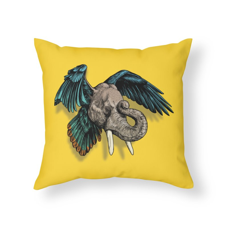 Rooktophant Home Throw Pillow by Octophant's Artist Shop