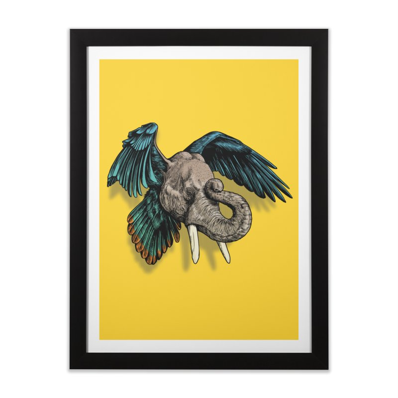 Rooktophant Home Framed Fine Art Print by Octophant's Artist Shop