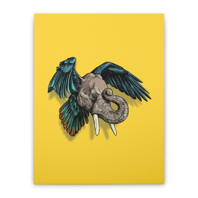 Rooktophant Home Stretched Canvas by Octophant's Artist Shop