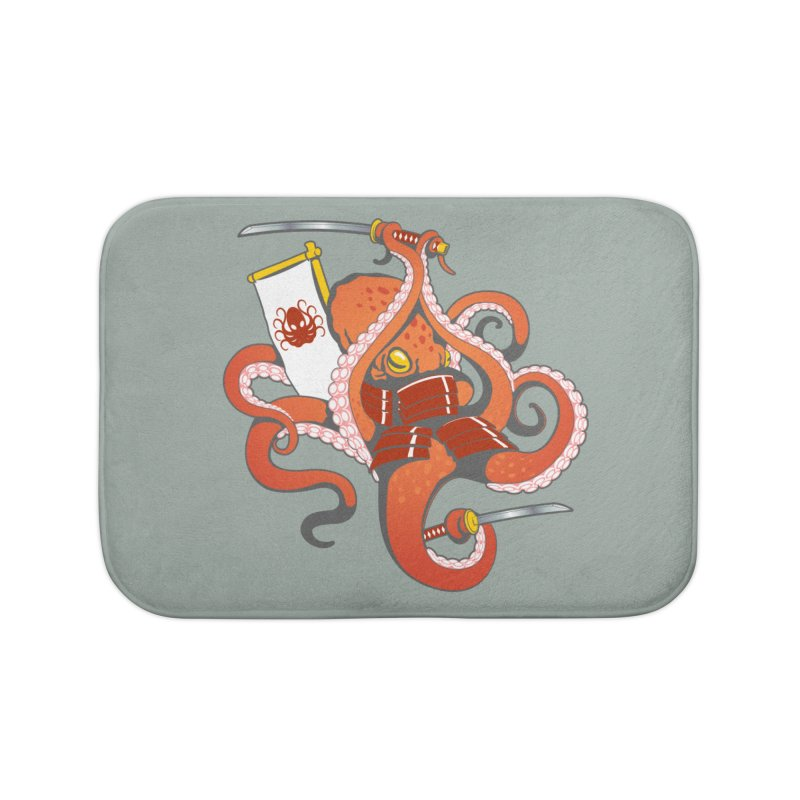 OctoSamurai Home Bath Mat by Octophant's Artist Shop