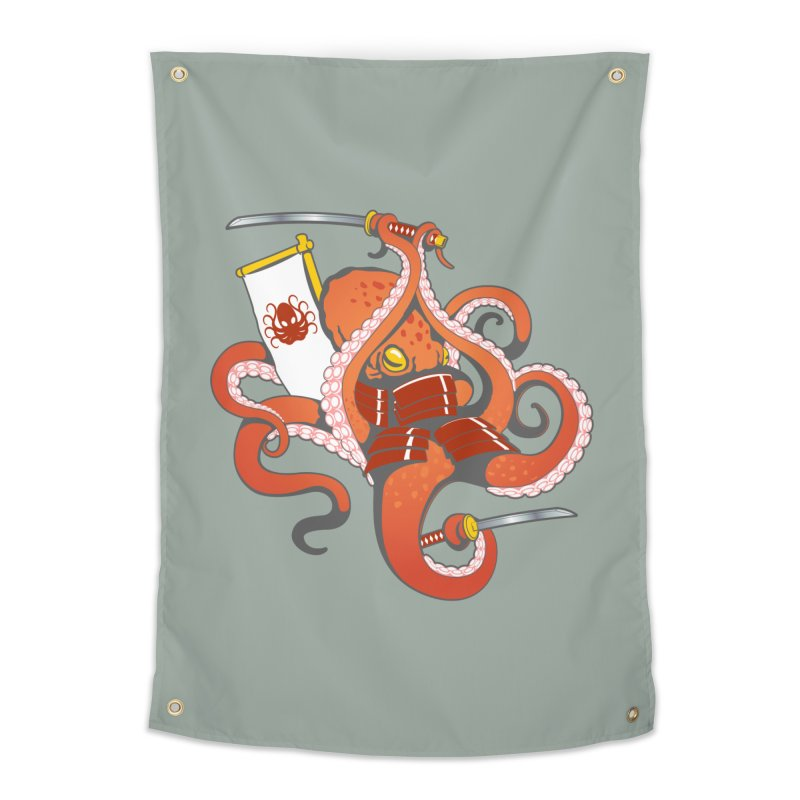 OctoSamurai Home Tapestry by Octophant's Artist Shop