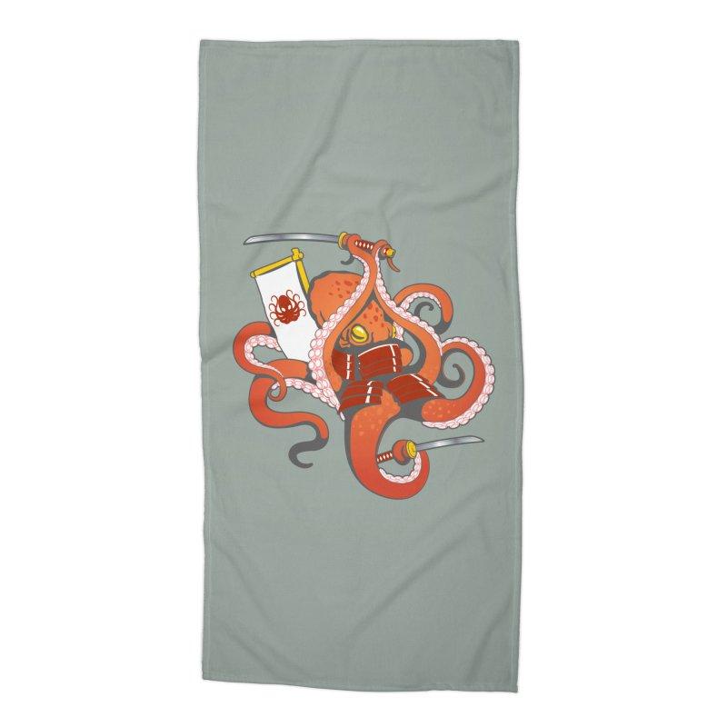 OctoSamurai Accessories Beach Towel by Octophant's Artist Shop