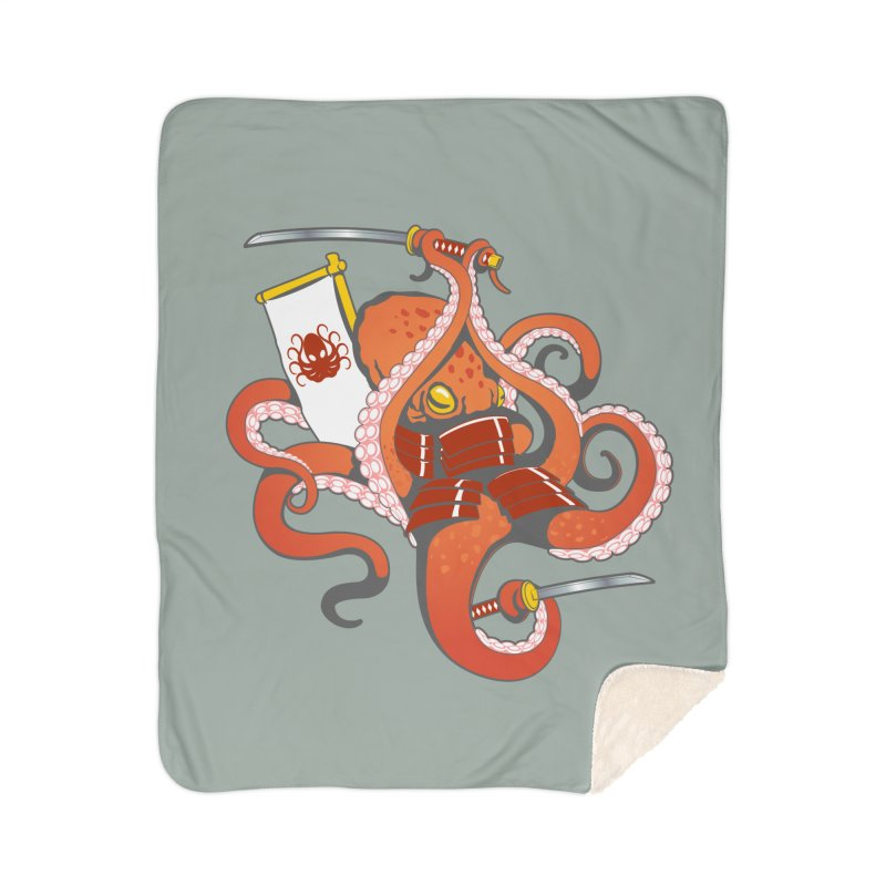OctoSamurai Home Sherpa Blanket Blanket by Octophant's Artist Shop