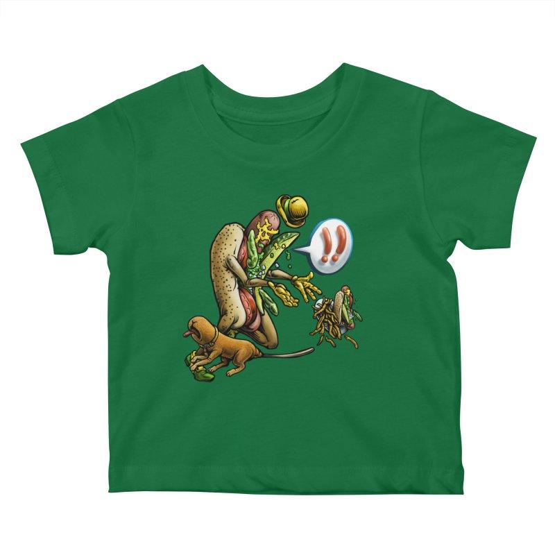 Trippin' Dog Kids Baby T-Shirt by Octophant's Artist Shop